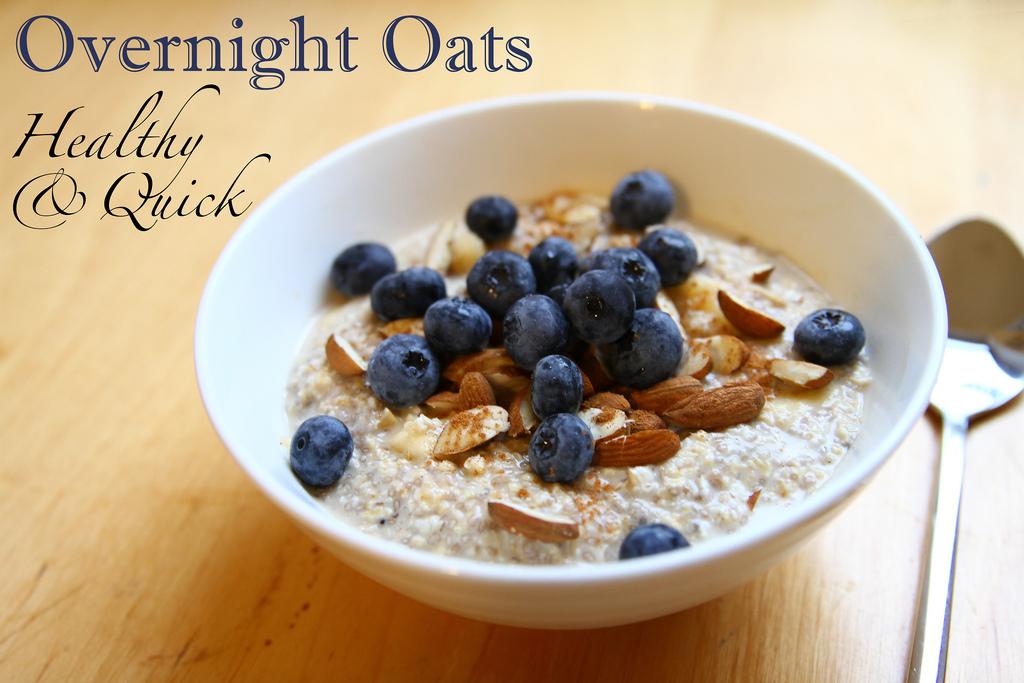 rezept f r vegane blaubeer overnight oats. Black Bedroom Furniture Sets. Home Design Ideas