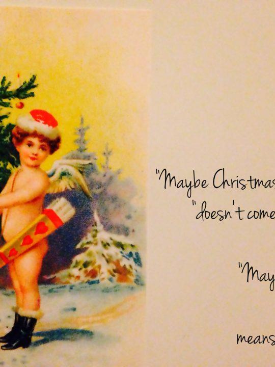 Worum es an Weihnachten geht - Ein Bibelvers und ein großes Dankeschön
