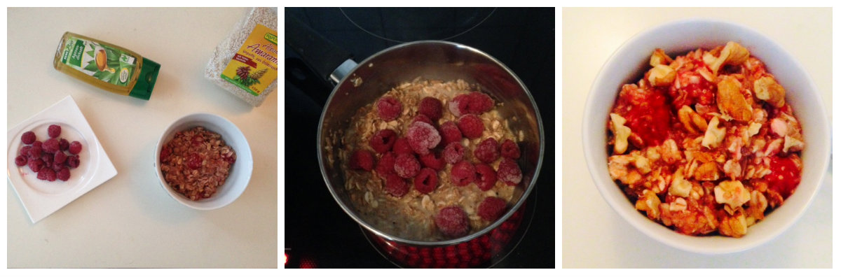 Warmes Frühstück Himbeeren