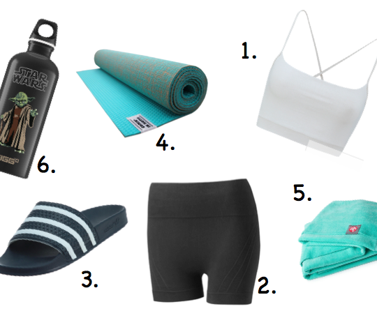Bikram Yoga Shopping Liste