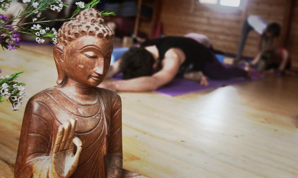 Yoga drinnen