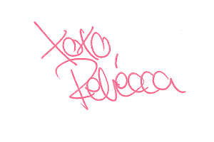 Unterschrift XOXO Rebecca_pink