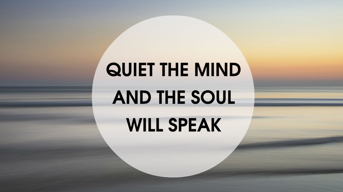 Quiet the mind Urban Detox