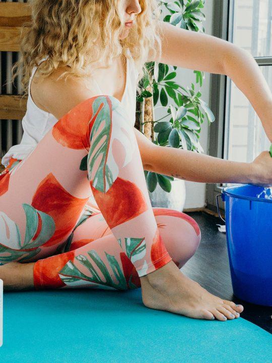 Yogamatte reinigen - So geht's!
